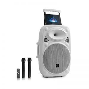 """Auna Streetstar 12 • Système Sono Portable • Enceinte 12"""" (30,5 cm) • 2 x micros UHF • 800 Watts de la marque Auna image 0 produit"""