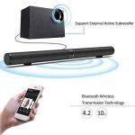 Barre de Son TV Soundbar Bluetooth 4.2, SoundBox TV Haut-Parleur Stéréo Speaker, 6 Haut-Parleurs et 2 Diaphragmes de Basse, Barre de Son détachable et séparable, Support RCA/AUX/Opt/USB/Subwoofer de la marque Fityou image 1 produit