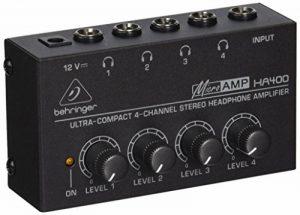 Behringer MICROAMP HA400 Amplificateur Casque 4 canaux de la marque Behringer image 0 produit