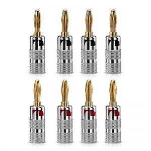 Bolongking Fiches bananes en or 24K pour câble audio jack de haut-parleur de la marque Bolongking image 0 produit