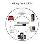 Cable Auxiliaire Voiture Phone 1.5M Adaptateur 3,5mm Mâle Jack Audio Cord Compatible pour PhoneX/8/7/6/Pad/Pod/Maison/Voiture Stéréo/Casque/Orateur Nylon Tissé Noir de la marque zerkar image 4 produit