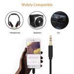 Cable Auxiliaire Voiture Phone 1.5M Adaptateur 3,5mm Mâle Jack Audio Cord Compatible pour PhoneX/8/7/6/Pad/Pod/Maison/Voiture Stéréo/Casque/Orateur Nylon Tissé Noir de la marque zerkar image 2 produit