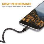 Cable Micro USB Chargeur Samsung - [Lot de 3, 2M] en Nylon Tressé Cable Micro USB Chargeur pour Samsung, Nexus, LG, Huawei, Smartphones Android et plus (Carbone et Noir) de la marque Xcords image 2 produit