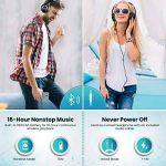 Casque bluetooth, ELEGIANT Écouteur bluetooth sans Fil Headset Wireless Réglable Mains libres + Mic/aux Audio 3,5 mm Compatible avec Smartphone Iphone Android Ordinateur PC Tablette (noir ) de la marque ELEGIANT image 2 produit