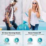 Casque bluetooth, ELEGIANT Écouteur bluetooth sans Fil Headset Wireless Réglable Mains libres + Mic/aux Audio 3,5 mm Compatible avec Smartphone Iphone Android Ordinateur PC Tablette (blanc) de la marque ELEGIANT image 2 produit