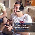 Casque Gaming pour PS4 Xbox One Ecouteur Gamer Stéréo avec Microphone Filaire Réglable Contrôle du Volume Bandeau Flexible pour PC Ordinateur Portable Tablette Mac Conférence Vidéo (Fabric Headband) de la marque NUBWO image 3 produit