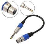 Câble adaptateur jack XLR femelle vers prise mâle 6,35 mm mâle de la marque Highplus image 1 produit