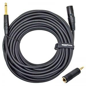 Câble Adaptateur MUTEC Power 6.35mm Male vers Sortie XLR Male à 3 Broches - avec Adaptateur 6.35mm Femelle vers 3.5mm Male - 20 mètres de la marque MutecPower image 0 produit