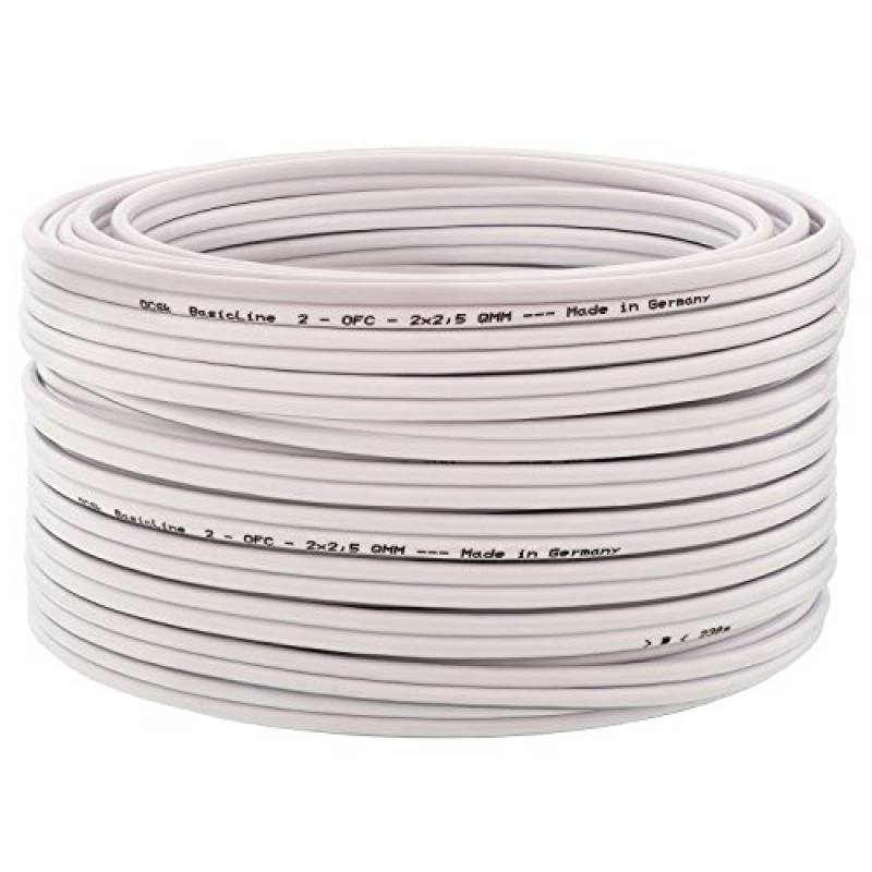 Câble haut-parleur 2 x 2.5 mm multi brins qualité Premium Cuivre Clad fils d/'aluminium