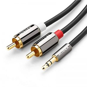 Câble audio stéréo Y Awinner - Prise mâle RCA vers 2RCA - Plaqué or à double blindage de 3,5mm 1 m de la marque AWINNER image 0 produit