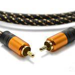 Câble Coaxial Audio/Vidéo - Longueur 1 m - Connecteurs RCA Mâles, cordon en nylon tressé de la marque Tech'Import image 1 produit