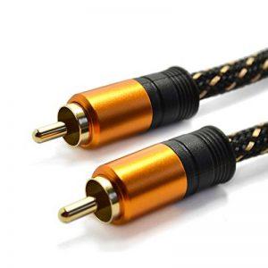 Câble Coaxial Audio/Vidéo - Longueur 2 m - Connecteurs RCA Mâles, cordon en nylon tressé de la marque Tech'Import image 0 produit
