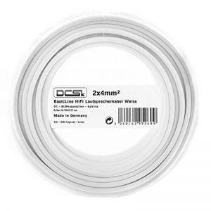 Câble d'Enceinte Blanc DCSk 20m - 2 x 4mm²   câble en cuivre OFC pour HiFi/Audio   câble de boîtier 99,99% cuivre avec Isolation de la marque DCSk image 0 produit