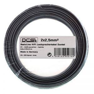 Câble d'Enceinte Noir DCSk 20m - 2 x 2,5mm²   câble en cuivre OFC pour HiFi/Audio   câble de boîtier 99,99% cuivre avec Isolation de la marque DCSk image 0 produit
