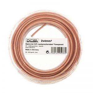 Câble d'Enceinte Transparent DCSk 10m - 2 x 4mm²   câble en cuivre OFC pour HiFi/Audio   câble de boîtier 99,99% cuivre avec Isolation de la marque DCSk image 0 produit