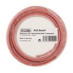 Câble d'enceinte transparent DCSk 50m - 2 x 2,5mm² | câble en cuivre OFC pour HiFi/audio | câble de boîtier 99,99% cuivre avec isolation de la marque DCSk image 4 produit