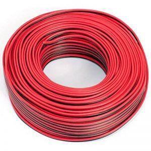Câble de haut-parleur 2x 0,5mm²–Rouge/Noir–50m câble–CCA–Câble audio–Boîte de la marque Seki image 0 produit