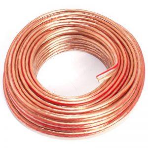 Câble de Haut-Parleur 2 x 1,50 mm2 - Câble Audio 1,50mm2-10m Transparent de la marque Seki image 0 produit