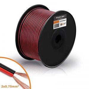 Câble de haut-parleur MANAX® 2 x 0,75 mm² rouge / noir 100,0 m de la marque MANAX image 0 produit