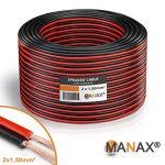 Câble de haut-parleur MANAX® 2 x 1,50 mm² rouge / noir 100,0 m de la marque MANAX image 3 produit