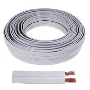 Câble enceinte PLAT 10m - 2x2,5mm² CCA - Audiocâble 2,2mm de la marque Seki image 0 produit