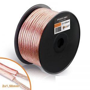 câble haut parleur 100m TOP 1 image 0 produit