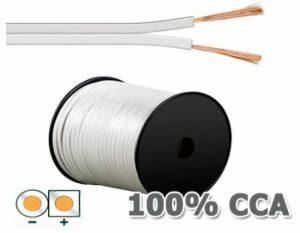 câble haut parleur blanc TOP 1 image 0 produit