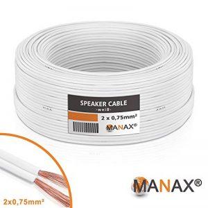 câble haut parleur blanc TOP 10 image 0 produit
