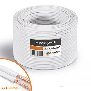 câble haut parleur blanc TOP 3 image 0 produit