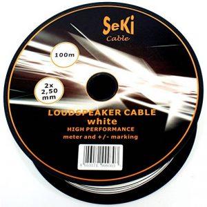 câble haut parleur blanc TOP 5 image 0 produit