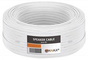 câble haut parleur blanc TOP 9 image 0 produit
