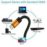Câble HDMI IBRA® ORANGE GOLD 10M v2.0 / 1.4a Haute Performance Compatible Ethernet - 3D - Retour audio - Blindé - Tressé - 10 mètres de la marque IBRA® image 1 produit
