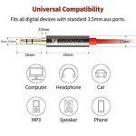 Câble Jack [1.2m/Lot de 2] IVANKY - Garantie à Vie/Qualité Sonore HiFi -Câble Auxiliaire Audio Stéréo 3.5 Mâle Mâle en Nylon Tressé pour iPhone, iPod, iPad, Voiture, Casque, MP3, Sony, et plus - Rouge de la marque IVANKY image 4 produit