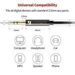 Câble Jack 3.5mm [1.2m / Lot de 2] IVANKY - Garantie à Vie/Qualité Sonore HiFi - Câble Auxiliaire Audio Stéréo 3.5 Mâle Mâle pour iPhone, iPod, iPad, Voiture, Casque, MP3, Samsung, Sony et plus - Noir de la marque IVANKY image 4 produit