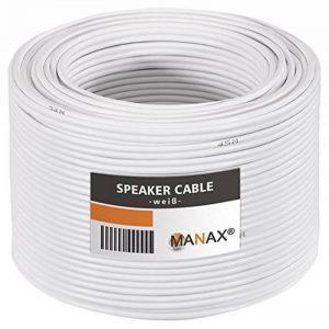 Câble pour enceinte 2 x 1,5 mm² 50 m de la marque MANAX image 0 produit