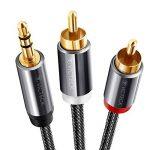 Câble RCA Jack Audio 2M, VICTECK Nylon Tressé Jack Stéréo 3.5mm Mâle vers 2 RCA Mâle Y Auxiliaire Audio Stéréo Câble- Plaqués Or 2M de la marque VICTECK image 1 produit