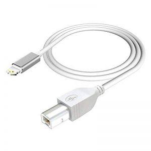 Câble USB 2.0 de Type B, câble MIDI Haute Vitesse Compatible avec Le contrôleur Phone/Pad vers Midi, Clavier Midi, Enregistrement d'interface Audio, Microphone USB, 1 m de la marque Hoplaza image 0 produit