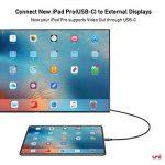 Câble USB C vers HDMI (4K@60Hz), Câble USB C vers HDMI Compatible pour iPad Pro 2018, MacBook, Galaxy S9/S8 et Plus - Gris Spatial - 0,9 m de la marque Uni image 2 produit