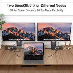 Câble USB C vers HDMI (4K@60Hz), Câble USB C vers HDMI Compatible pour iPad Pro 2018, MacBook, Galaxy S9/S8 et Plus - Gris Spatial - 0,9 m de la marque Uni image 3 produit