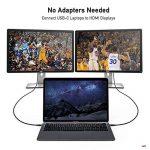 Câble USB C vers HDMI(4K@60Hz), uni Câble Type C vers HDMI(Thunderbolt 3 Compatible) pour MacBook Pro 2017/2016, Samsung Galaxy S9/S8/Note 9/Note 9, Surface Book 2, Dell XPS etc. - Gris, 1.8m de la marque Uni image 4 produit
