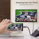 Câble USB C vers HDMI(4K@60Hz), uni Câble Type C vers HDMI(Thunderbolt 3 Compatible) pour MacBook Pro 2017/2016, Samsung Galaxy S9/S8/Note 9/Note 9, Surface Book 2, Dell XPS etc. - Gris, 1.8m de la marque Uni image 3 produit