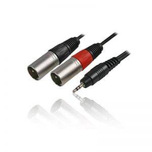 CDL Micro Câble jack stéréo 3,5 mm vers 2 prises XLR 3 voies Noir 3 m de la marque CDL Micro image 0 produit
