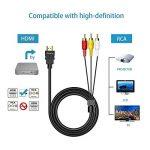 Chenduomi HDMI vers AV convertisseur 1080p HDMI vers 3RCA/AV/CVBS vidéo Composite Adaptateur Audio (Noir) (câble HDMI vers 3RCA, Noir) de la marque Chenduomi image 1 produit