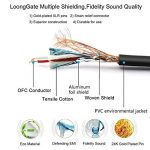 Cordons de brassage de câble micro équilibrés LoongGate - Qualité et clarté du son haut de gamme, faible bruit extrême - Câbles de microphone femelle XLR mâle vers XLR (noir, 3m / 9,8ft) de la marque LoongGate image 2 produit