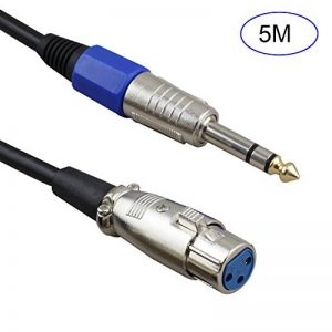 Crewell 1/2/3/5/10M Fil Cordon Micro XLR Femelle vers Jack 6.35/6.5mm Male Plug Audio Plomb câble de Microphones de la marque Crewell image 0 produit