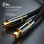 CSL - 2m (mètres) Câble Toslink HQ Platinum (Optique/numérique) | Connecteur Toslink | Fibre Optique | Connecteur HQ en métal avec Contacts plaqués d'or | Home Entertainment/HiFi / Consoles de la marque CSL-Computer image 3 produit