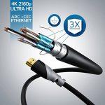 CSL - 3m (mètres) - Micro HDMI (type D) sur HDMI (type A) | câble doré (High Speed) HQ Micro HDMI 1.4 a avec prise en charge VRAIE 3D et Ethernet | Full HD / HD Ready / 3D | 1080 p / 2160 p / 4K (Ultra HD) de la marque CSL-Computer image 2 produit