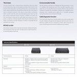 D-Link Switch 5 ports Gigabit metallique 10/100/1000mbps - Idéal partage de connexion et mise en réseau Small Office Home Office (DGS-105) de la marque D-link image 4 produit