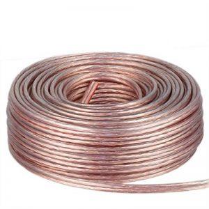 DCSk - 2 x 1,5 mm² - 25m - Câble d'enceinte - Haut-parleurs - cuivre Pur - Transparent - 25 m de la marque DCSk image 0 produit
