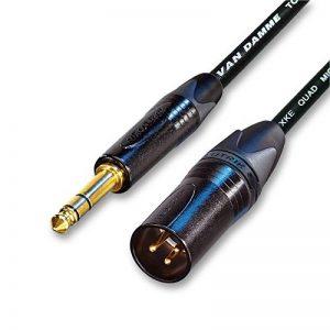 Designacable Câble symétrique Van Damme STARQUAD Neutrik XLR mâle plaqué or vers prise jack de la marque designacable image 0 produit